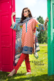 Embroidered Cotton Polyester Shalwar Kameez By Khaadi 2015 3