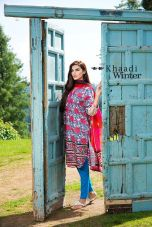Embroidered Cotton Polyester Shalwar Kameez By Khaadi 2015 5