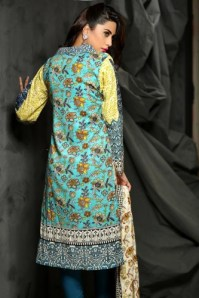 Embroidered Linen Fall Dresses By Rajbari 2015-16 3