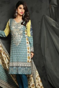 Embroidered Linen Fall Dresses By Rajbari 2015-16 4