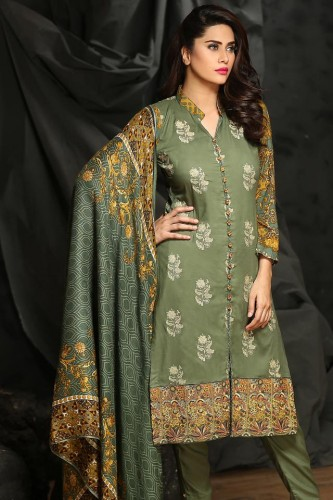 Embroidered Linen Fall Dresses By Rajbari 2015-16