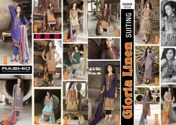 Gloria Linen Dresses For Women By Rashid Textiles 2015-16 4