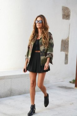 Military Clothing Trend In Winter Outfits