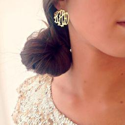 name earrings