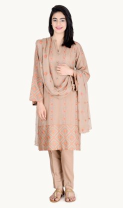 Printed Kameez Fall Collection By Bareeze 2015-16 9