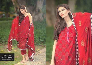 Silk Chiffon Embroidered Dresses By So Kamal 2016