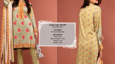 Silk Karandi Embroidery Dresses By Warda 2015-16