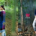 2 Piece Embroidered Linen Kurtis By Al Zohaib Textiles 2016 2