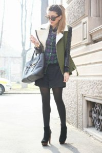 Black Tights Winter Outfits Trends For Women 8