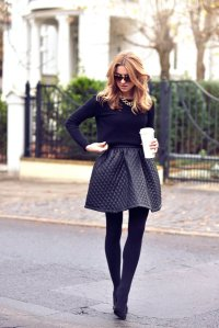 Black Tights Winter Outfits Trends For Women 9