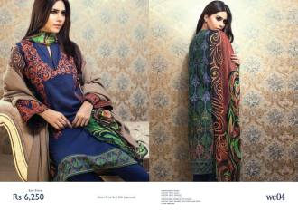 Chiffon Linen Winter Collection By Resham Ghar 2015-16