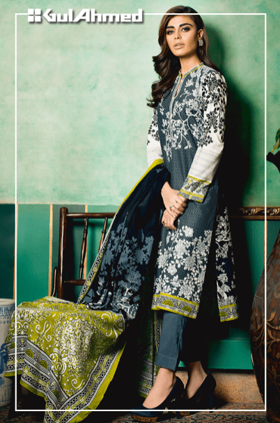 Embroidered Linen Gul Ahmed Collection 2015-16 5