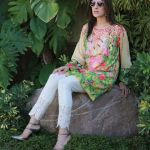 Floral Silk Kurta Collection For Casual Wearing By FTA 2016 3