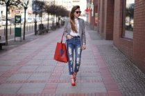 Gray Dark Shades Winter Outfits Women Street Style 2015-16
