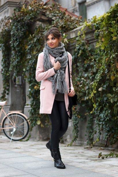 Gray Dark Shades Winter Outfits Women Street Style 2015-16 13