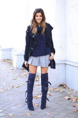 Gray Dark Shades Winter Outfits Women Street Style 2015-16 5