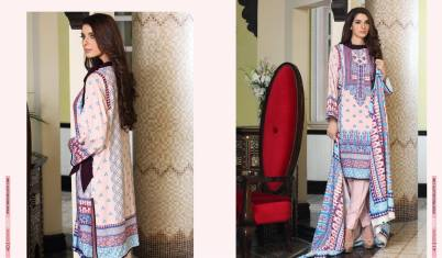 Linen Embroidered Casual Dresses By Firdous Cloth Mills 2015-16 10