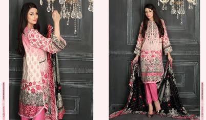 Linen Embroidered Casual Dresses By Firdous Cloth Mills 2015-16 3