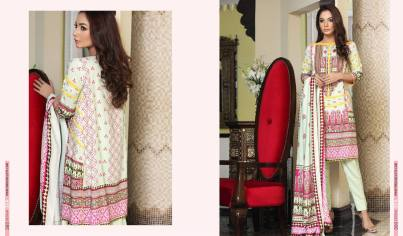 Linen Embroidered Casual Dresses By Firdous Cloth Mills 2015-16 9