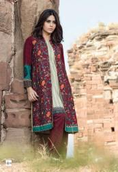 Maria B Linen Winter Dresses For Young Girls 2015-16 2