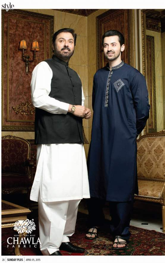 Men Plain Shalwar Kameez By Chawla Fabrics 2016