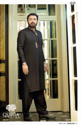 Men Plain Shalwar Kameez By Chawla Fabrics 2016 5