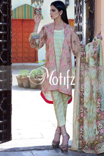 Printed Karandi Winter Collection By Motifz 2015-16 6
