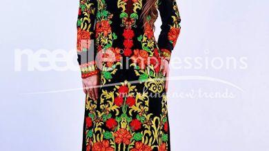 Velvet Winter Floral Print Dresses By Needle Impressions 2015-16