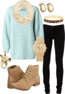 warm polyvore clothing