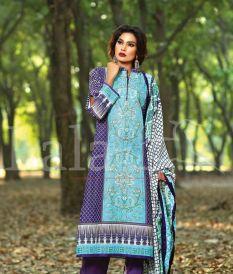 Winter Khaadi Printed Shalwar Kameez By Lala Textiles 2015-16 2