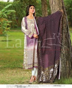 Winter Khaadi Printed Shalwar Kameez By Lala Textiles 2015-16 6