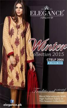 Elegance Winter Collection 2015 Women Shalwar Kameez 5
