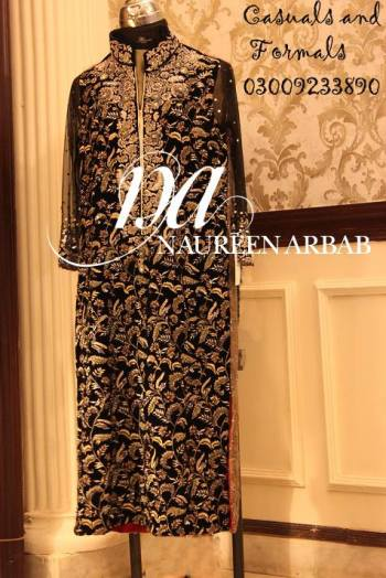 Embroidered Formal Collection Naureen Arbab Dresses 2016 5