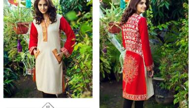 Embroidered Stitched Kameez Collection Resham Ghar 2016