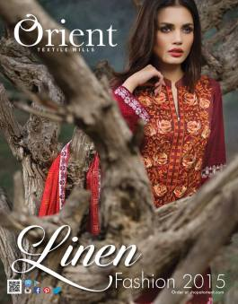 Linen Embroidered Dresses Orient Textile Collection 2016 2
