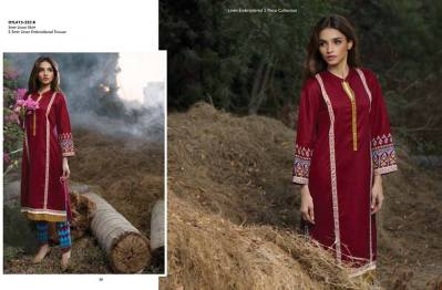 Linen Embroidered Dresses Orient Textile Collection 2016 24