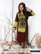 Embroidered printed kurti