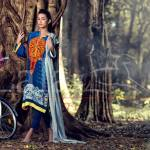 Marina Fabric Embroidered Dresses By Lala Textiles 2015-16 2
