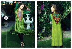 Ready To Wear Silk Embroidered Collection Resham Ghar 2016 6