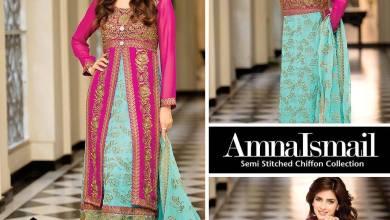 Semi Stitched Chiffon Collection Winter Party Wear 2015-16