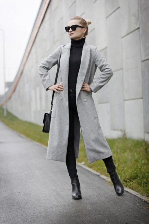 Stylish Winter Long Coats Every Women Should See 16