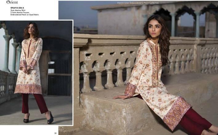 Orient textile winter dress