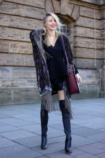 Women Velvet Dresses Winter Casual Street Style Looks