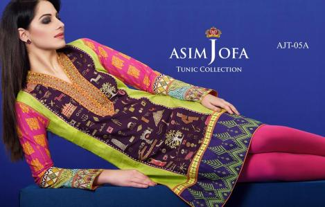 Asim Jofa Summer Tunics Luxury Collection 2016 9
