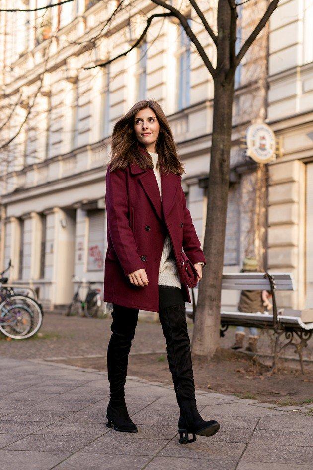 Burgundy Coat Designs Women Should Try This Season
