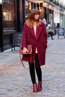 Burgundy Coat Designs Women Should Try This Season 11