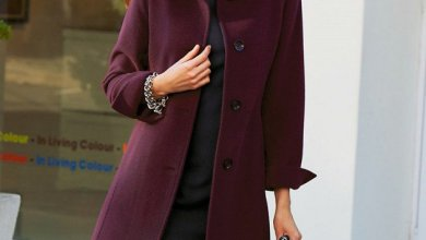 Burgundy Coat Designs Women Should Try This Season
