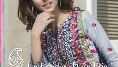 Cambric Embroidered Spring Collection Rujhan Fabrics 2016