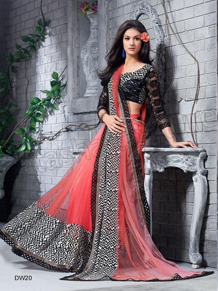 Georgette silk saree collection