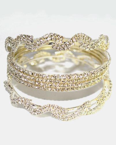 Gold Diamond Bangles Jewelry